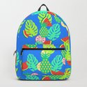 Watermelons and pineapples in blue by cocodes