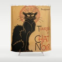 Le Chat Noir The Black Cat Poster by Théophile Steinlen Shower Curtain
