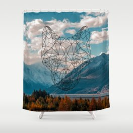 Wolf nature mountain Shower Curtain