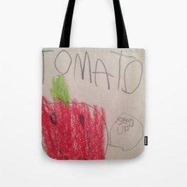 Tomato Speaks Tote Bag