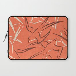 Retro Red Swallows Laptop Sleeve