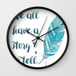 Story to Tell Wall Clock
