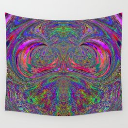 Anyone else see a trippy owl? Wall Tapestry