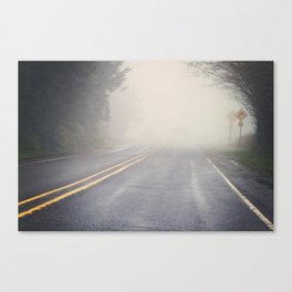 Watch out for the Curve Canvas Print