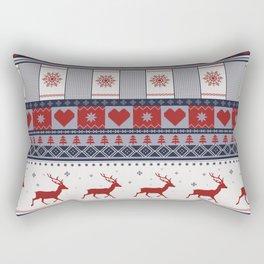 Scandinavian Christmas Pattern Rectangular Pillow
