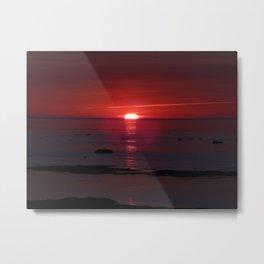 Red Skies Before Dusk Metal Print