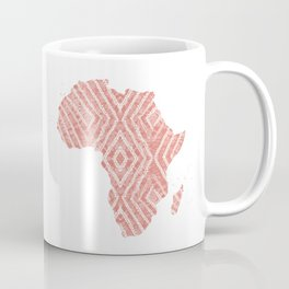Africa in Peach Coffee Mug