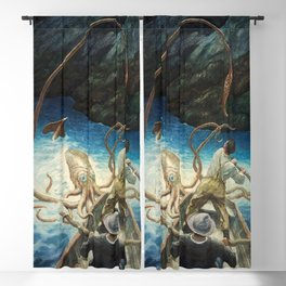 The Adventure of the Giant Squid, 1939 by Newell Convers Wyeth Blackout Curtain