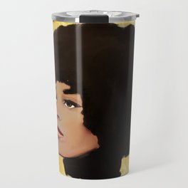 Feminist Angela Davis as a Young Black Lives Matter Activist for Panthers Travel Mug