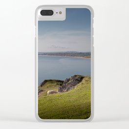 Sheep at Rhossili bay Clear iPhone Case
