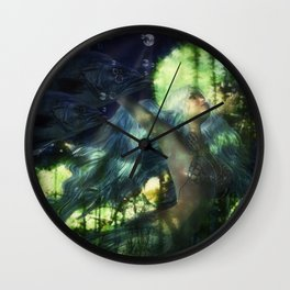 Swimming with Fish Wall Clock