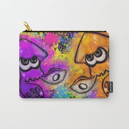 I've Got an Inkling - Orange on Black Carry-All Pouch