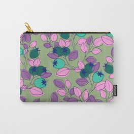 Purple Rosehips Carry-All Pouch
