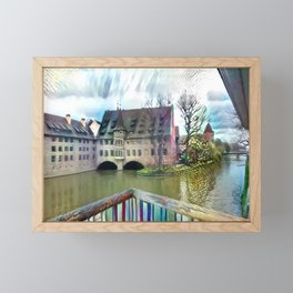 An Abstract Sight of Nuremberg Framed Mini Art Print