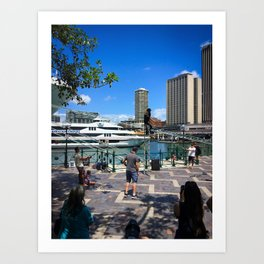 Busking Around Circular Quay Art Print