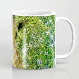 Giraffe Face Close Up Coffee Mug