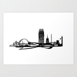 Skyline Duisburg Art Print