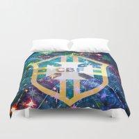 brazil Duvet Covers featuring Brazil Logo by Cr7izbest