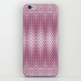 Icy Pink Frosted Geometric Relief Design iPhone Skin