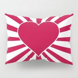 Japanese Valentine Heart Rising Heart of Japan Pillow Sham
