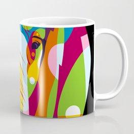 The Colorful Elephant Head Pop Art Style Coffee Mug