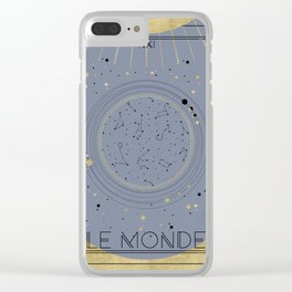 The World or Le Monde Tarot Clear iPhone Case