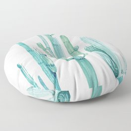 Cacti Fam Turquoise Floor Pillow
