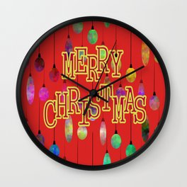 Message Of Christmas Wall Clock