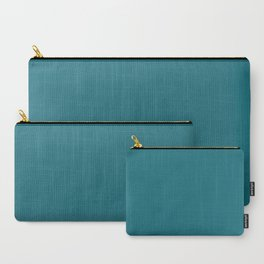 Solid Muted Blue Color Carry-All Pouch