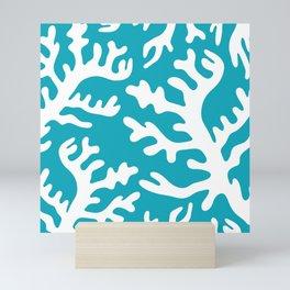 BLUE CORAL 3 Mini Art Print