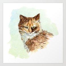 Calico Kitty A2007011 Art Print