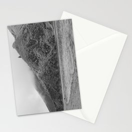Lake Black and white Stationery Cards