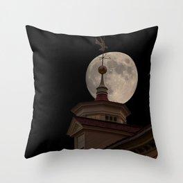 Moon Over Mount Vernon Throw Pillow