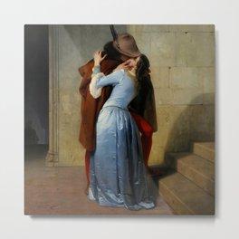 """Francesco Hayez """"The kiss"""" Metal Print"""
