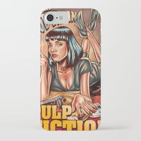 mia wallace iPhone & iPod Cases featuring Mia Wallace - Pulp Fiction by Renato Cunha