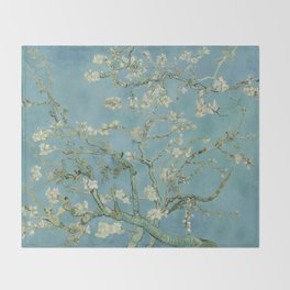 Almond Blossom Throw Blanket