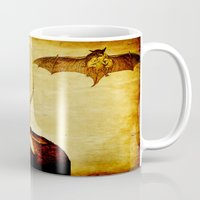 bat man Mugs featuring Bat-Man by Joe Ganech