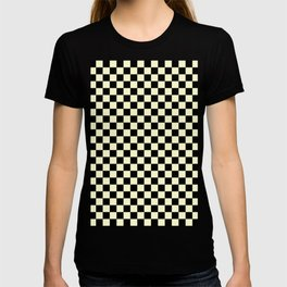 Black and Cream Yellow Checkerboard T-shirt