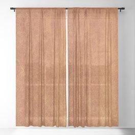 Farmhouse Style Original Camel Leather Oriental Design. Sheer Curtain