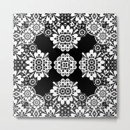 lace ornament Metal Print