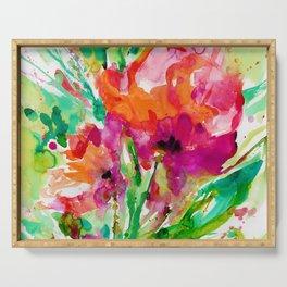 Blooming Joy No.1b by Kathy Morton Stanion Serving Tray