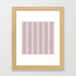 Palm Symmetry - Mauve Framed Art Print