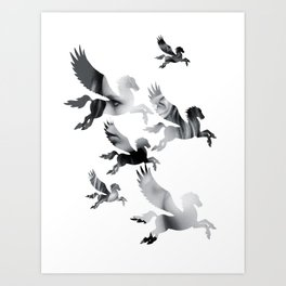 Facing Pegasus Art Print