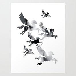 Facing Pegasus Art Print