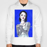 sky ferreira Hoodies featuring Sky ferreira / Blue period  by Lucas David
