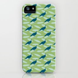 Californian Quail and home-grown sage iPhone Case