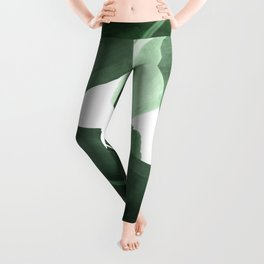 Green Banana Leaf Leggings