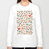 hearts Long Sleeve T-shirts featuring Hearts by Eleaxart