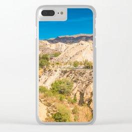 Beautiful desert landscape in Andalusia, Almeria Spain Clear iPhone Case