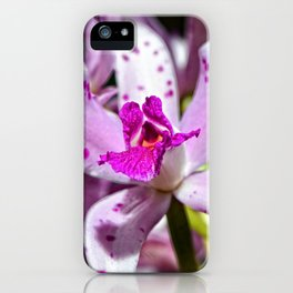 Flower Art - Intimate Orchid 4 - Sharon Cummings iPhone Case
